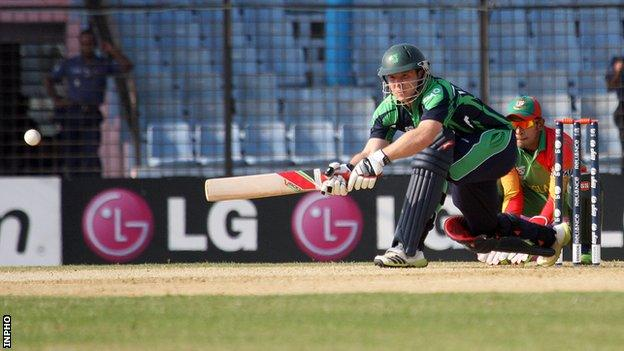 Gary Wilson steered Ireland to victory in the first of three T20 games against PNG
