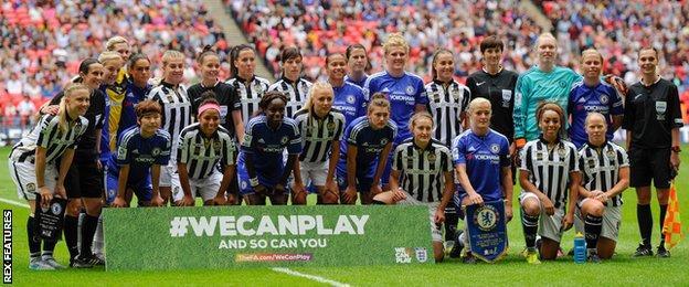Notts County Ladies and Chelsea Ladies