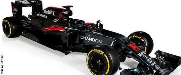 McLaren's new F1 car for the 2016 season