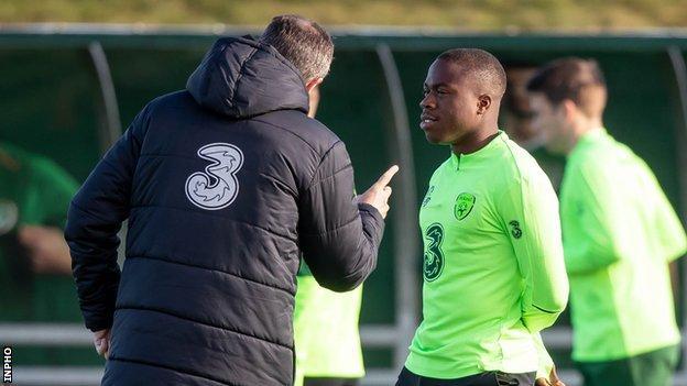 Michael Obafemi and Roy Keane
