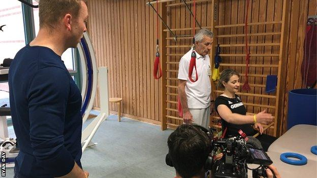 Sir Chris Hoy and Kristina Vogel