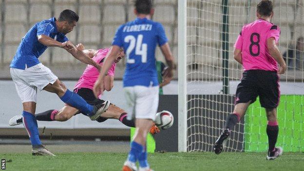 Graziano Pelle scores for Italy