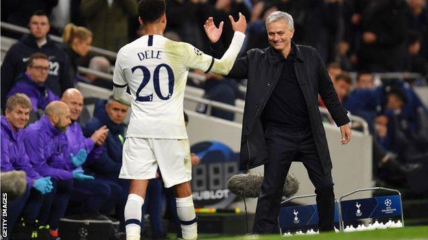 Dele Alli and Jose Mourinho