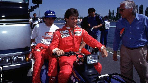Michael Andretti and Ayrton Senna