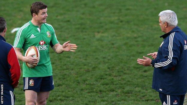 Brian O'Driscoll and Warren Gatland