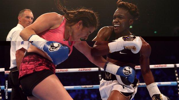 Adams marked her professional debut with a points victory over Argentina's Virginia Carcamo
