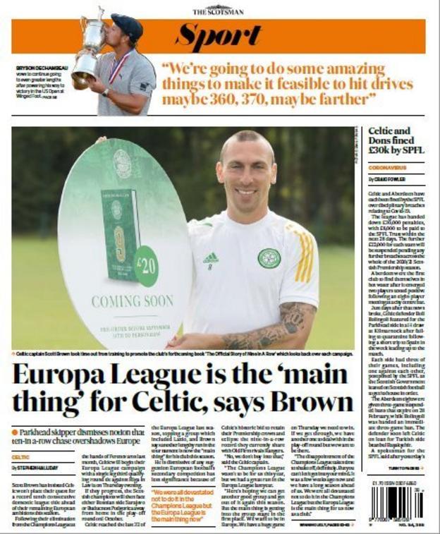 Scotsman back page