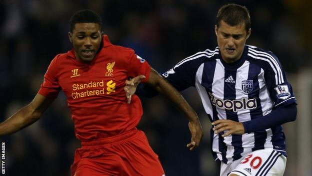 Jerome Sinclair played in a League Cup tie for Liverpool against West Brom in 2012 aged 16 after leaving the Baggies