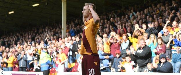 Louis Moult scored the only goal of the game for Motherwell
