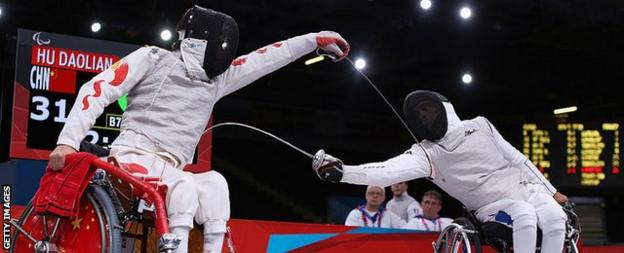 Disability wheelchair fencing