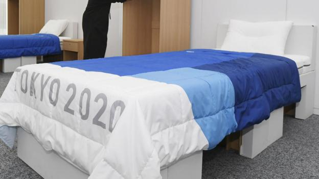 Tokyo 2020: Recycled cardboard used for beds at Olympics and Paralympics thumbnail