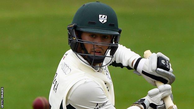 Worcestershire batsman Brett D'Oliveira