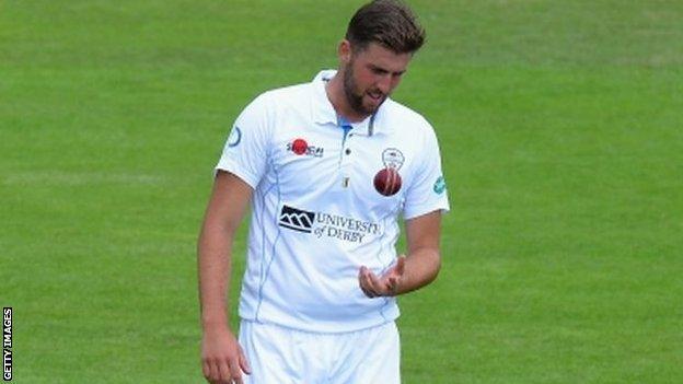 Derbyshire fast bowler Ben Cotton