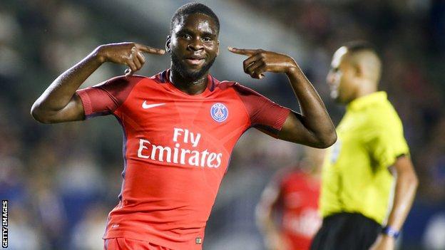 PSG striker Odsonne Edouard