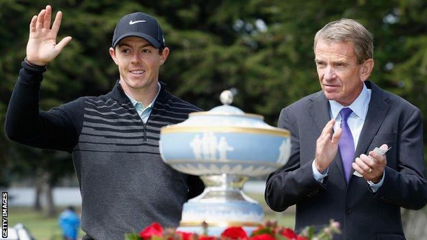 Rory McIlroy and Tim Finchem