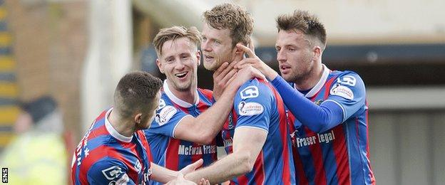 Alex Fisher hauled Inverness back into this one with a fine double
