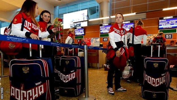 Russia's women's handball Olympic team