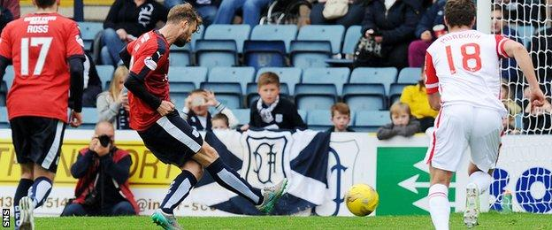 Rory Loy scores a penalty for Dundee