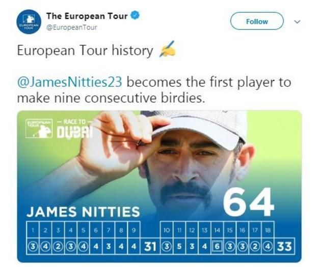 James Nitties world record