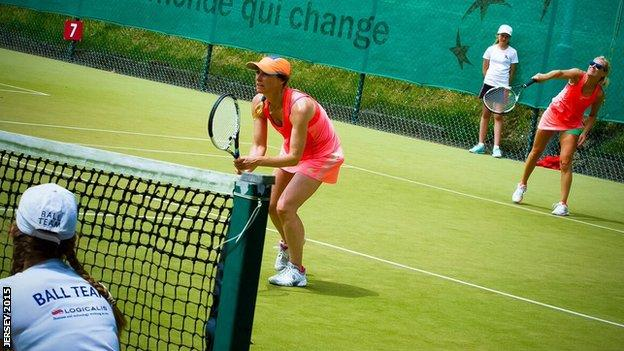 Island Games tennis doubles