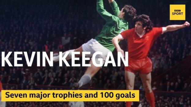Kevin Keegan won seven major trophies and scored 100 goals when at Liverpool