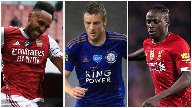 Pierre-Emerick Aubameyang (Arsenal), Jamie Vardy (Leicester), Sadio Mane (Liverpool)