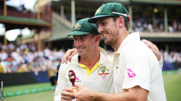 Brothers Shaun and Mitchell Marsh helped Australia win the 2018 Ashes