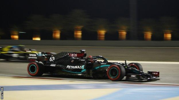 Mercedes stand-in Russell sets pace in first practice at Sakhir Grand Prix thumbnail