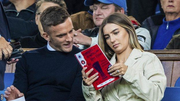 Andy King watched Rangers' win over Midtjylland at Ibrox