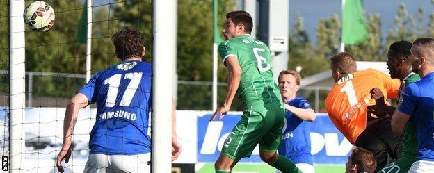 Nir Bitton heads Celtic level in Iceland