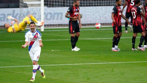 Luka Milivojevic celebrates scoring