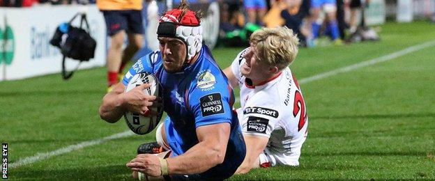 Replacement flanker Will Boyde scored the only try for Scarlets against Ulster
