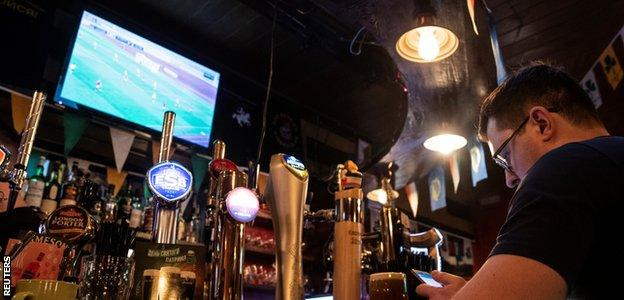 Bars in Moscow have been screening the Belarusian Premier League