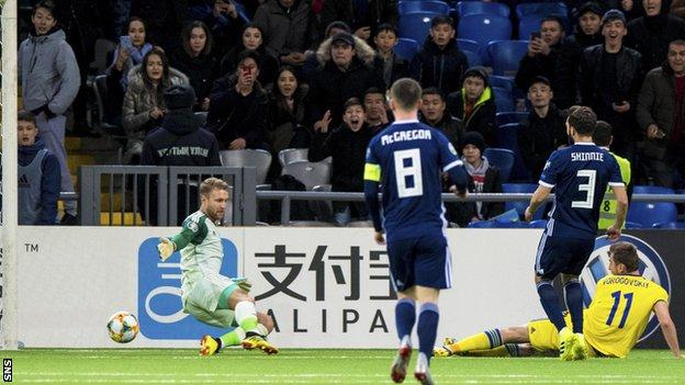Kazakhstan were 2-0 up inside the first 10 minutes against Scotland