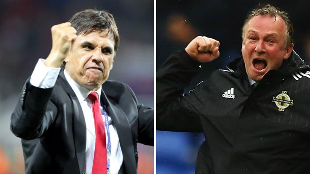 Wales manager Chris Coleman and Northern Ireland boss Michael O'Neill