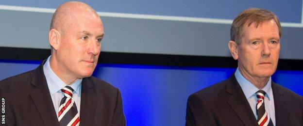 Rangers manager Mark Warburton and chairman Dave King at the AGM