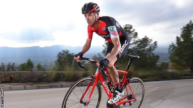 Spanish cyclist Samuel Sanchez