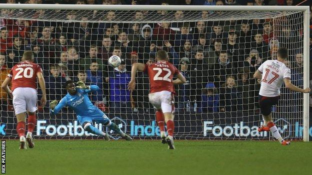 Paddy McNair scores Middlesbrough's equaliser from the penalty spot