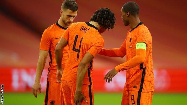 Netherlands defender Nathan Ake is injured