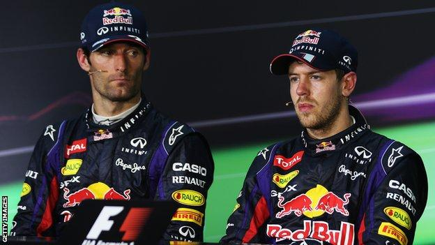 webber and vettel