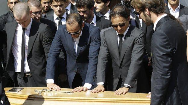 Felipe Massa at Jules Bianchi's funeral