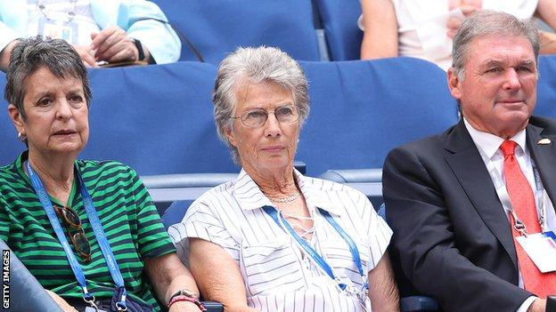 Virginia Wade watches Emma Raducanu's US Open fourth round match