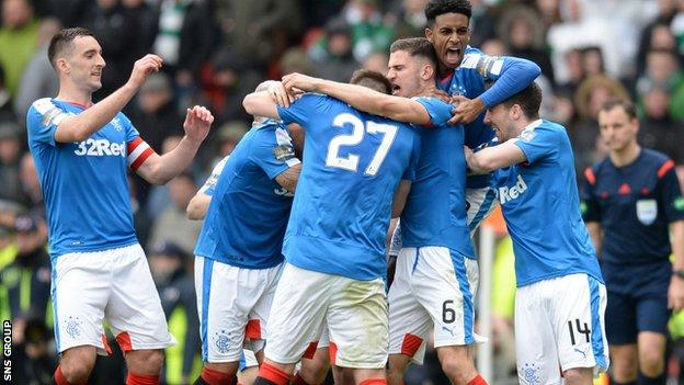Rangers led twice at Hampden before prevailing on penalty kicks