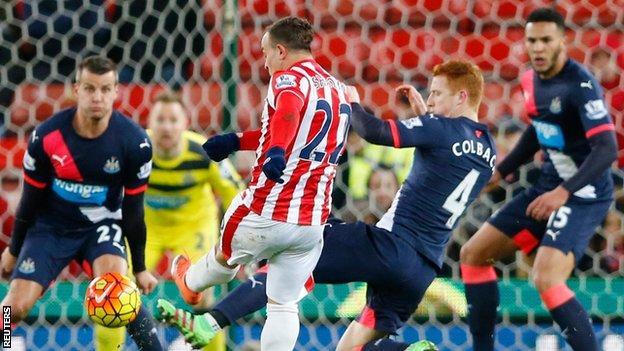 Stoke matchwinnr Xherdan Shaqiri