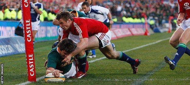 Lions lose in South Africa 2009