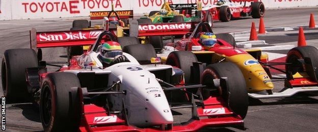 Justin Wilson at the 2005 Long Beach Grand Prix
