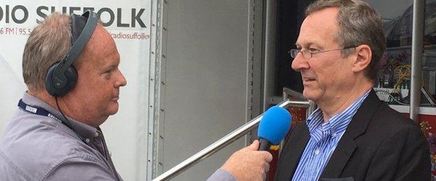 Ipswich Town managing director Ian Milne talks to BBC Radio Suffolk's Mark Murphy