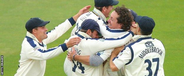 Yorkshire celebrate
