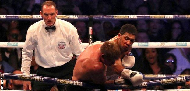 Joshua turned on the power in the seventh round