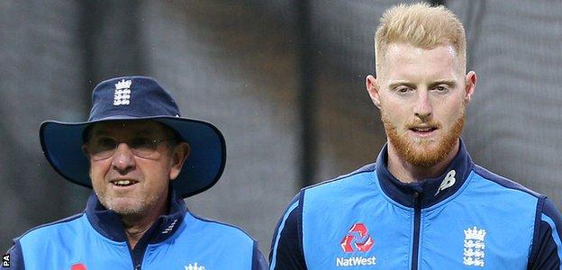 Ben Stokes with England coach Trevor Bayliss last summer